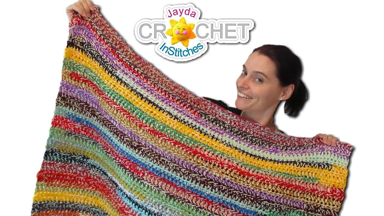 Scrapghan Crochet Free Pattern Scrap Easy Stash Buster Crochet Blanket 2 Style Scrapghan Youtube