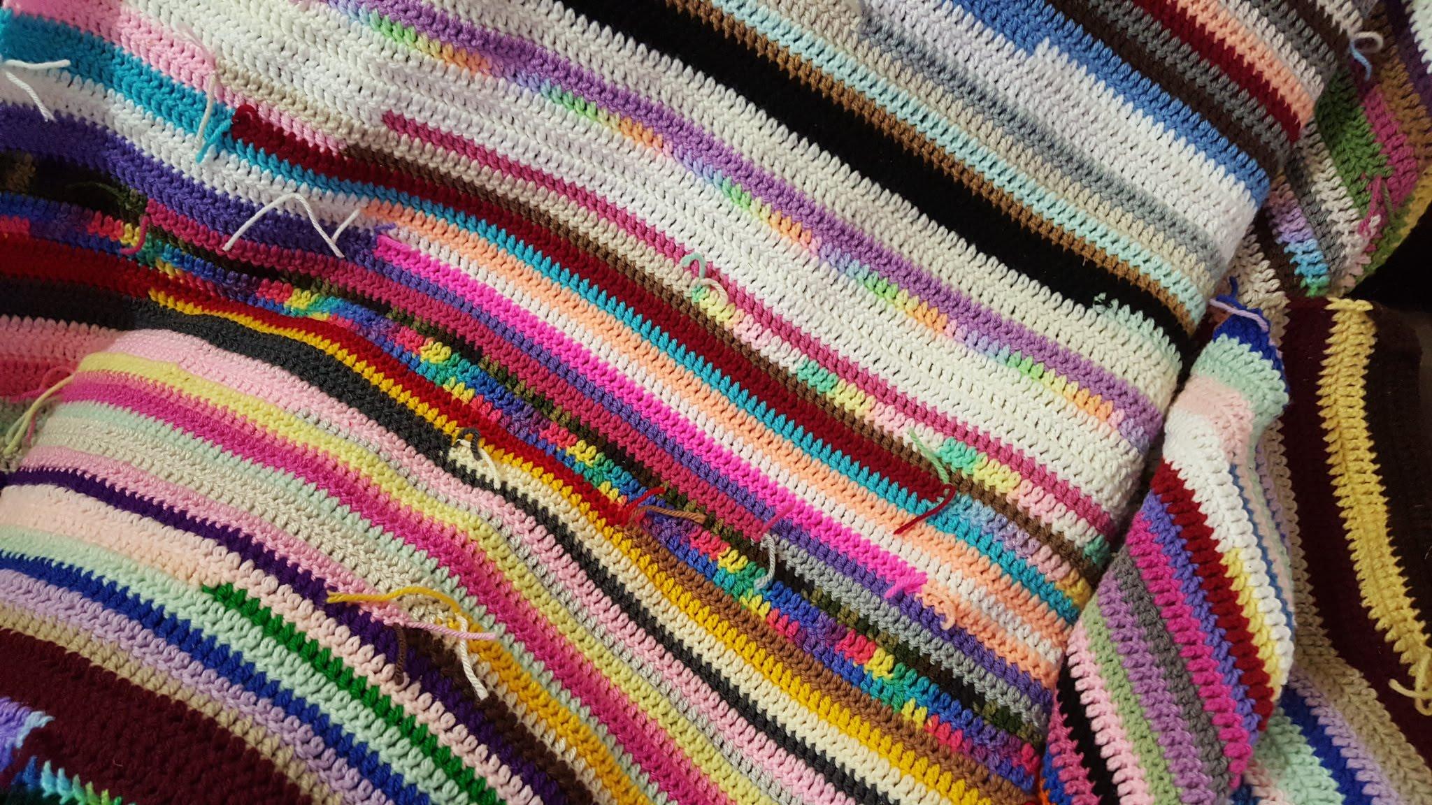 Scrapghan Crochet Free Pattern Scrap How To Make A Crochet Scrap Yarn Blanket Youtube