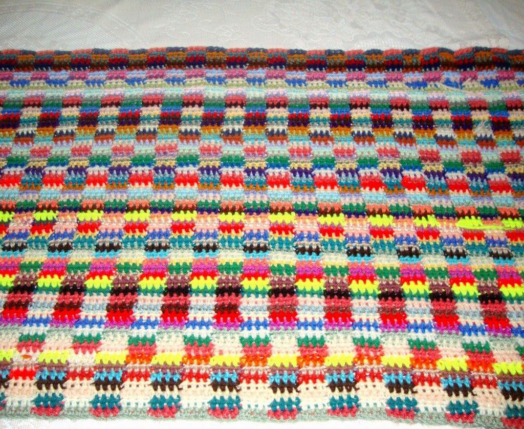 Scrapghan Crochet Free Pattern Scrap How To Make A Scrapghan Crochet A Throw Or Blanket From Yarn