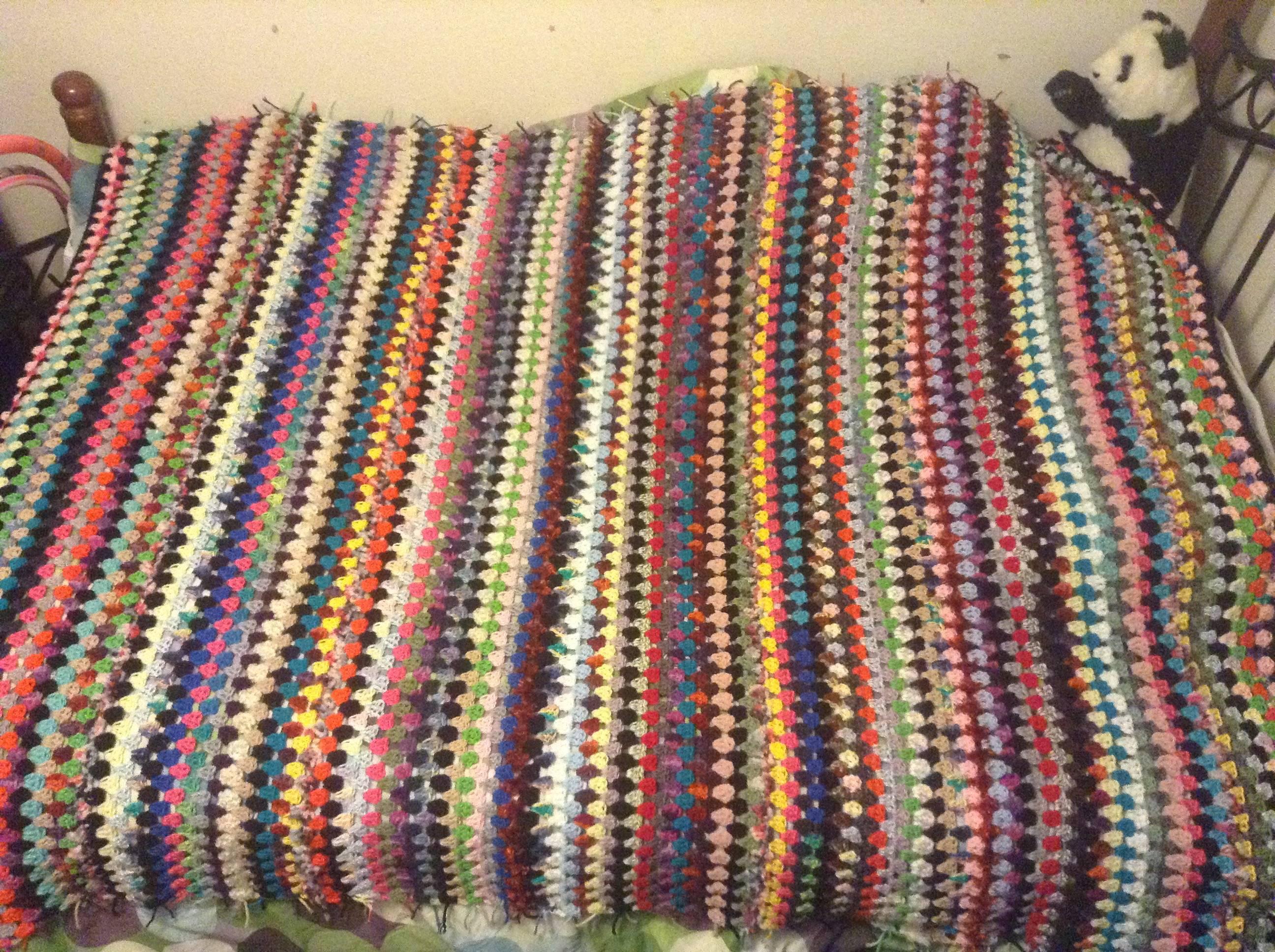 Scrapghan Crochet Free Pattern Scrap I Did It My Scrapghan Made Only From Scrap Yarn Crochet