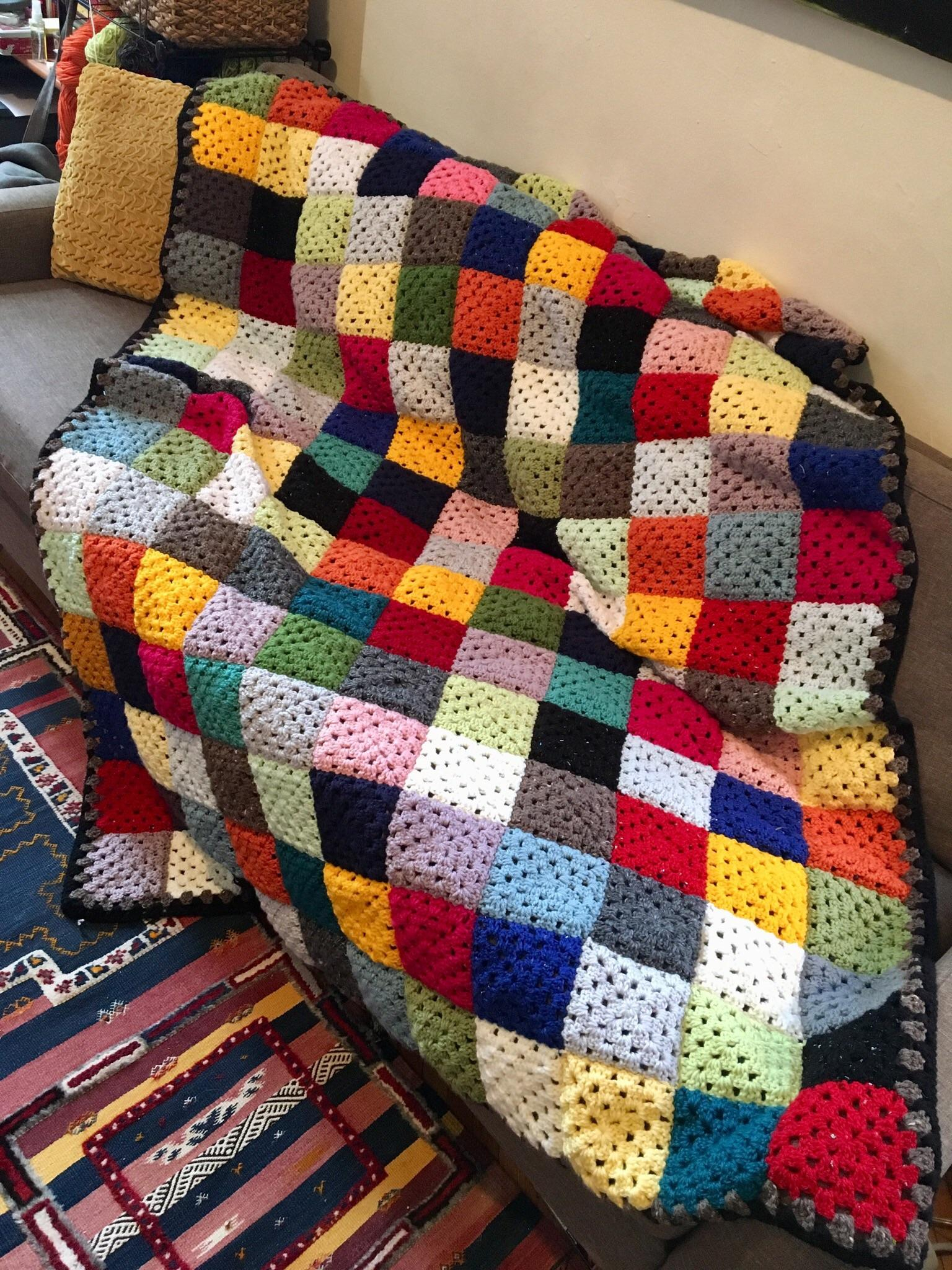 Scrapghan Crochet Free Pattern Scrap Scrapghan That Unfortunately Hasnt Even Put A Dent In My Scraps