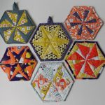 Sew Potholders Free Pattern Hexagon Quilt Pattern For Trivets Coasters And Potholders