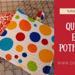 Sew Potholders Free Pattern How To Sew Easy And Quick Potholders From Fabric Diy Project Youtube