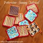 Sew Potholders Free Pattern Potholder Sewing Tutorial Our Potluck Family