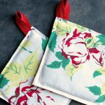 Sew Potholders Pot Holders Day 7 How To Make Pretty Retro Pot Holders