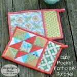 Sew Potholders Pot Holders Pocket Potholder Tutorial Jacquelynne Steves