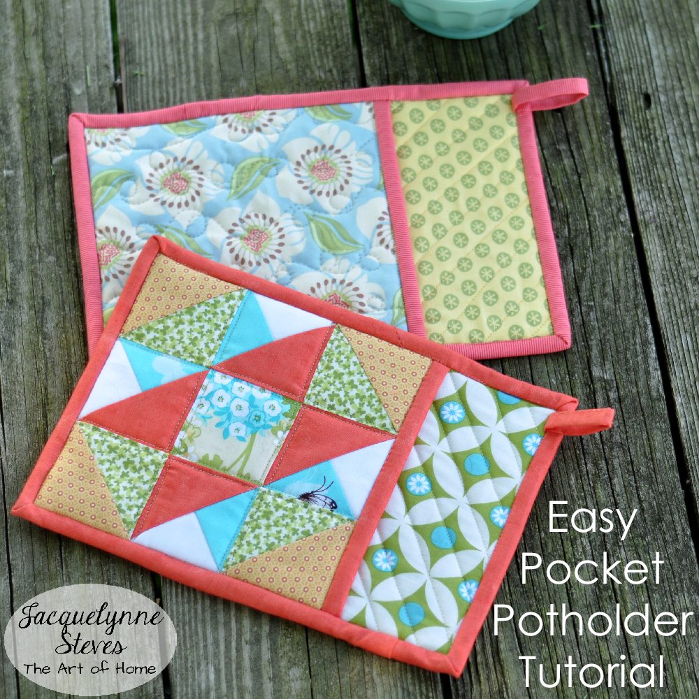 Sew Potholders Pot Holders Pocket Potholder Tutorial Jacquelynne Steves