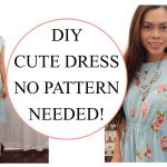 Sewing Patterns For Beginners How To Sew Dress Without Pattern Sewing Project For Beginners Youtube