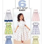 Sewing Patterns For Kids B3762 Butterick Patterns Childrens And Girls Empire Waist