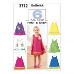 Sewing Patterns For Kids Butterick B3772 Toddlers Childrens Dress Pattern 010 Size 1 2 3