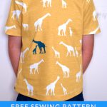 Sewing Patterns For Kids Easy T Shirt For Kids On The Cutting Floor Printable Pdf Sewing
