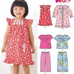 Sewing Patterns For Kids New Look 6087 Toddlers Robe Nightgown And Pajamas With Trim Variations