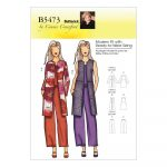 Sewing Patterns For Women Butterick B5473 Misseswomens Jacket Vest And Pants Pattern Size