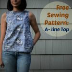 Sewing Patterns Free Free Sewing Pattern A Line Top 1024x840 On The Cutting Floor