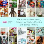 Sewing Plushies Free Pattern 27 Adorable Sewing Patterns For Stuffies Plushies Stuffed Animals
