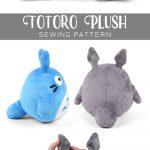 Sewing Plushies Free Pattern Free Pattern Friday Totoro Plush Studio Ghibli Pinterest