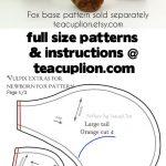 Sewing Plushies Free Pattern Free Vulpix Parts Plushie Sewing Pattern Teacuplion On Deviantart