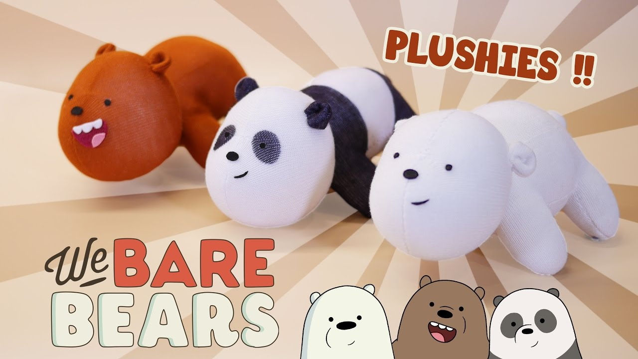 Sewing Plushies Tutorials Diy We Bare Bears Plushies Free Pattern Cute Bear Sock Plush