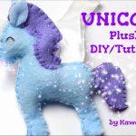 Sewing Plushies Tutorials Kawaii Diy Unicorn Plush Sewing Tutorial Youtube
