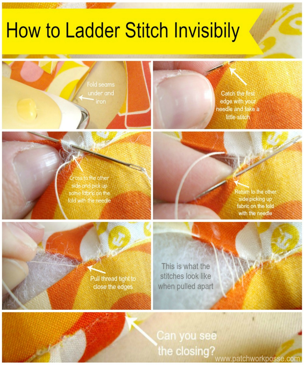 Sewing Plushies Tutorials Ladder Stitch For Closing Dolls Plushies