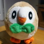 Sewing Plushies Tutorials Rowlet Plush For Sale And Sewing Template Owls Tea Party