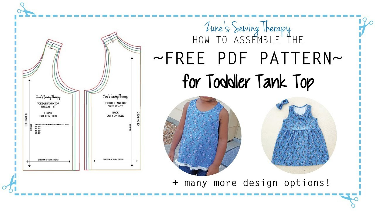 Sewing Printable Free Sign Free Toddler Tank Top Pattern How To Assemble The Printable Pdf