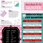 Sewing Printables Cheat Sheets Cheat Sheets For The Quilter