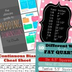 Sewing Printables Cheat Sheets Cheat Sheets For The Sewing Crafter U Create Printables