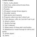 Sewing Printables Cheat Sheets Order Of Garment Construction