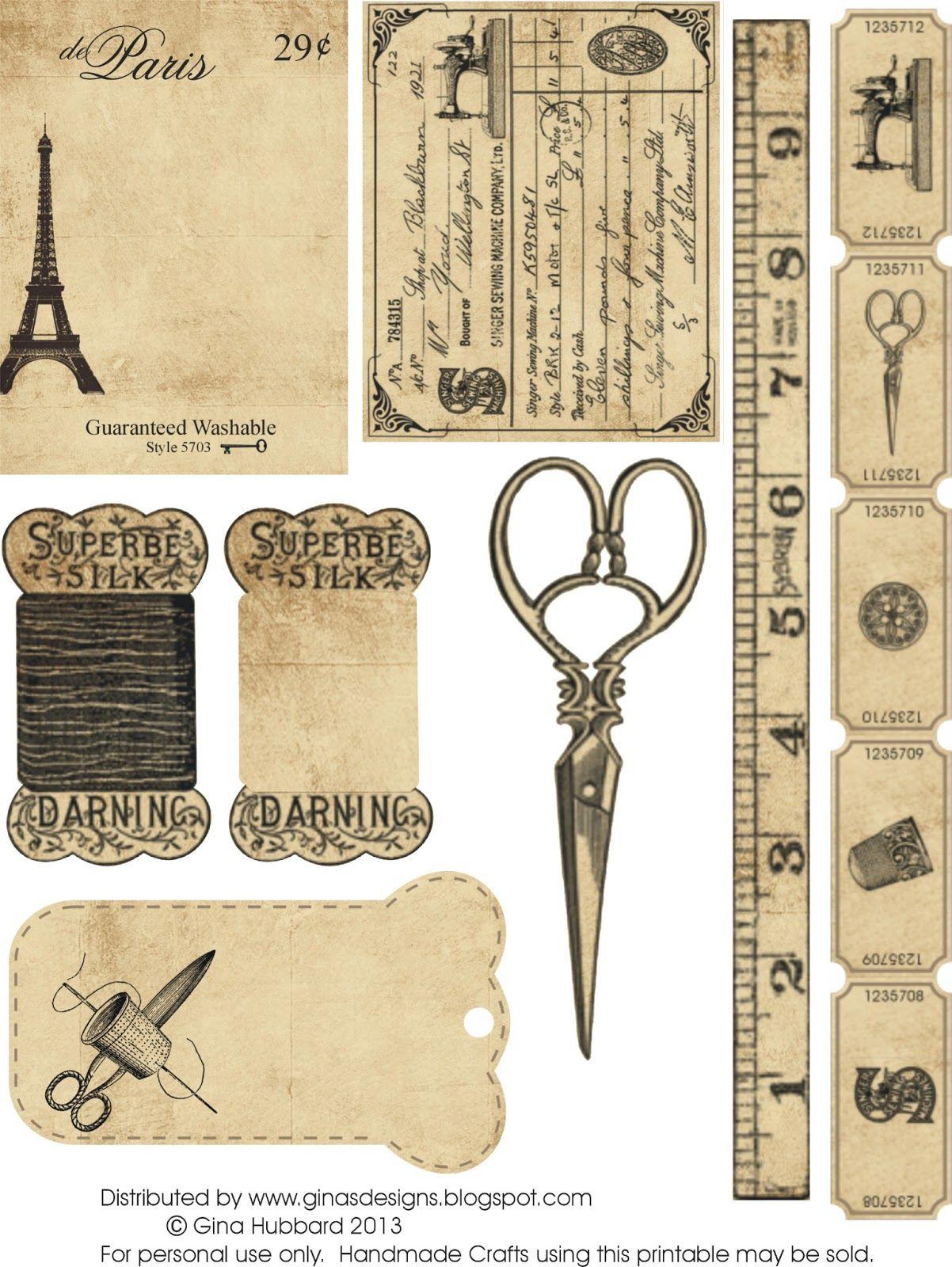 Sewing Printables Free Vintage A Imprimer Gratuit Thme Couture Aah Printables Pinterest
