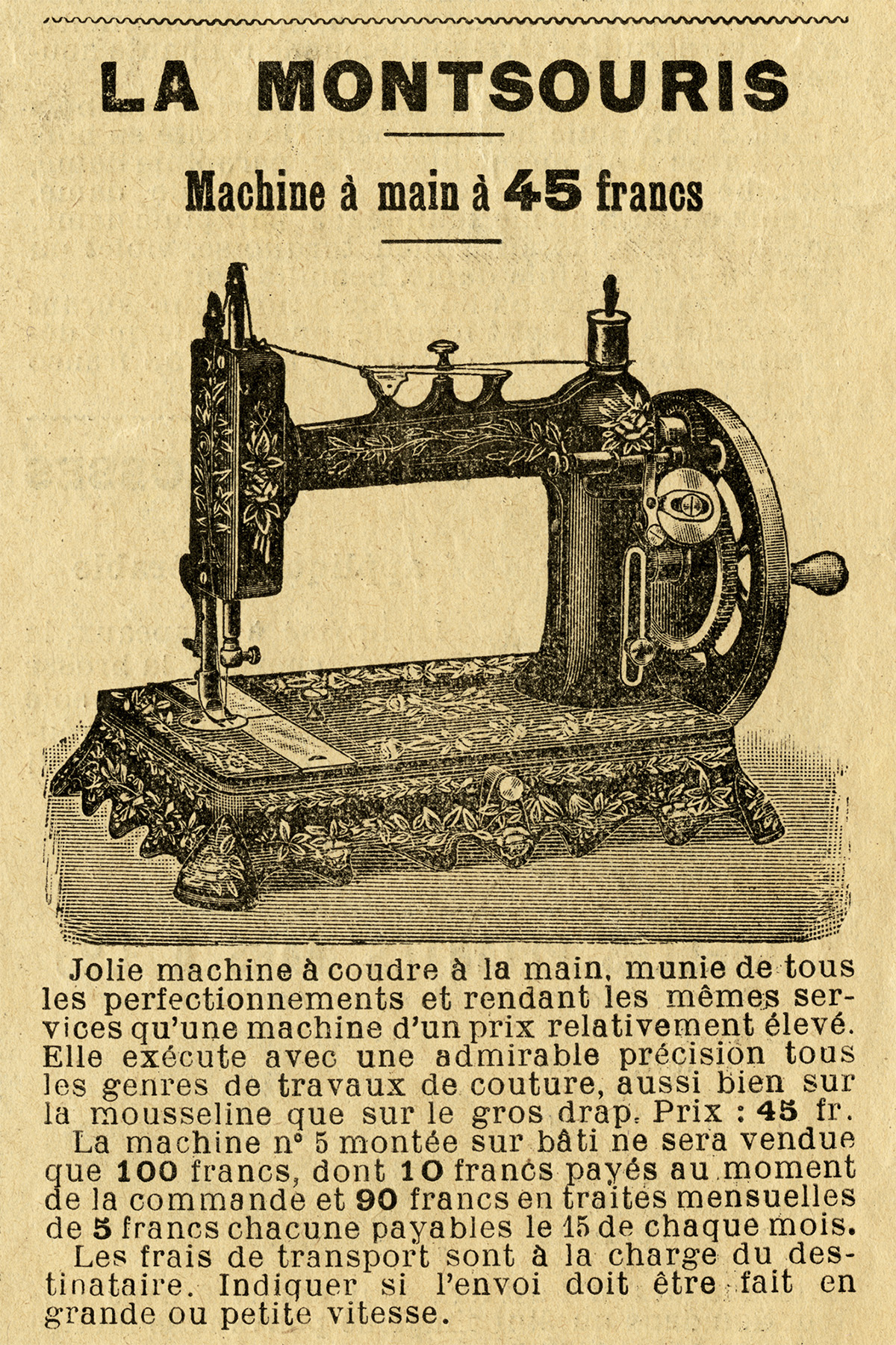 Sewing Printables Free Vintage Free Vintage Image French Sewing Machine Clipart 1901 Old Design