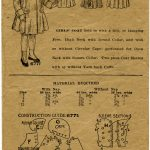 Sewing Printables Free Vintage Vintage Girls Coat Pattern Envelope Free Digital Graphics Old
