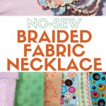 Sewing Scrap Projects How To Make No Sew Braided Fabric Necklace Tutorial The Crafty Blog Stalker