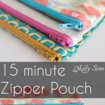 Sewing Scrap Projects Simple How To Sew A Zipper Pouch Tutorial Melly Sews