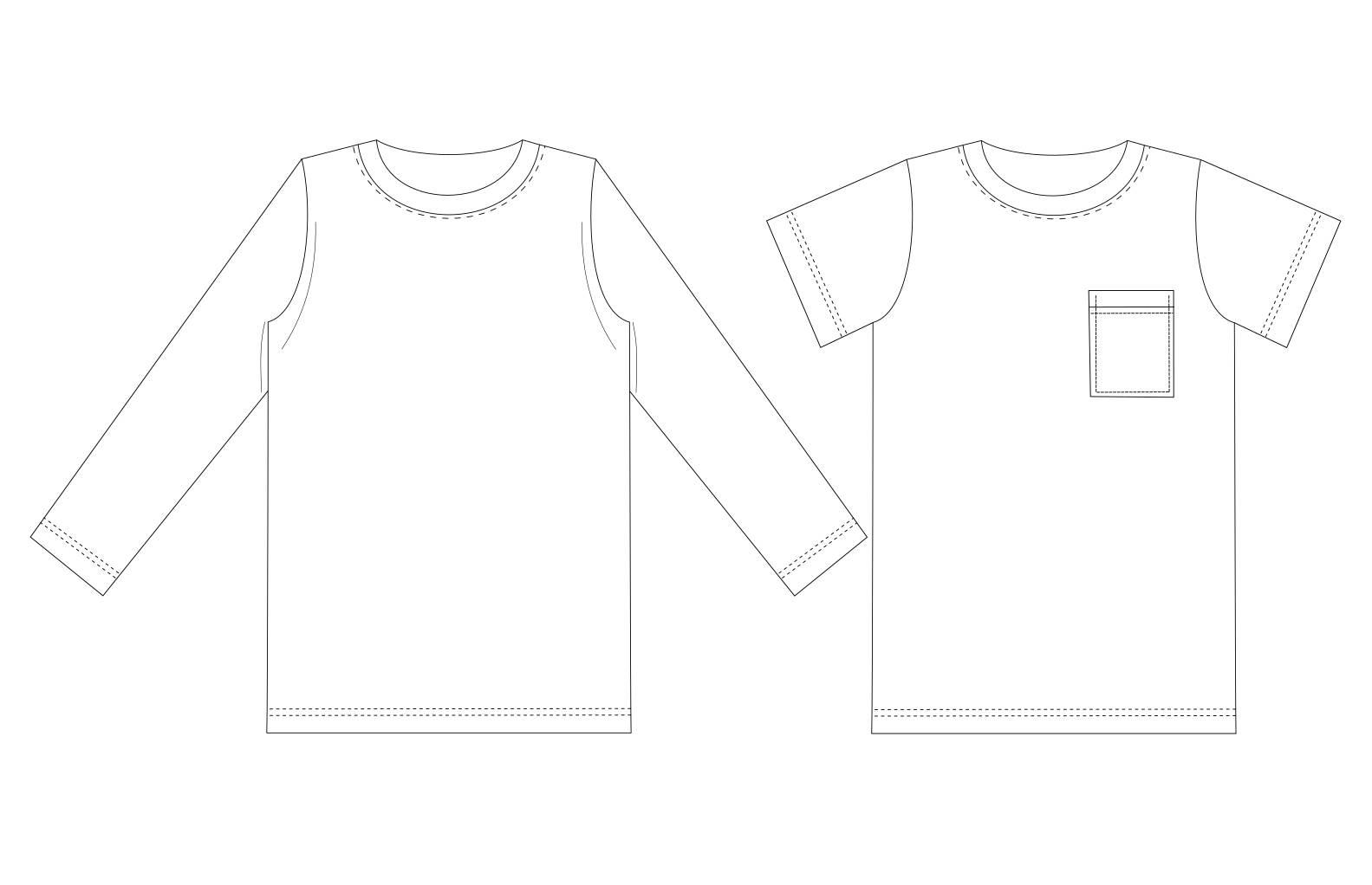 Sewing Tshirt Pattern Kids T Shirt Pattern Pdf Boys T Shirt Pattern Kids Sewing Etsy