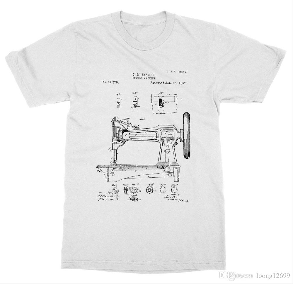 Sewing Tshirt Pattern Sewing Machine Patent T Shirt Pattern Singer Diy Invent New Advance