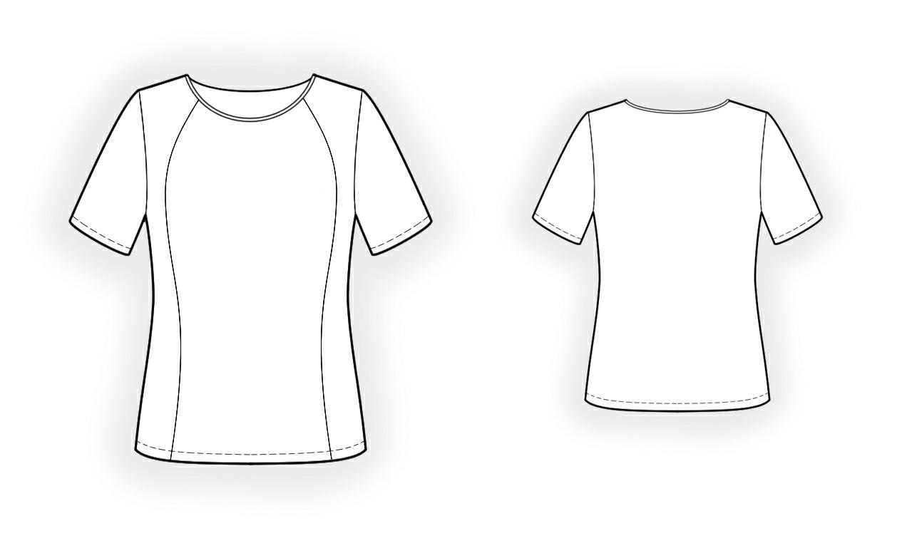 Sewing Tshirt Pattern Sport Shirt Sewing Pattern 4272 Made To Measure Sewing Pattern