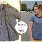 Sewing Tshirts Refashion A Step Up For A Mens Button Up Peplum Refashion