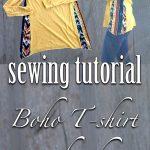 Sewing Tshirts Refashion Boho T Shirt Refashion Sewing Womens Wear Pinterest Sewing