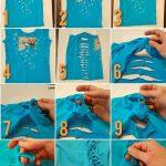 Sewing Tshirts Refashion Cut Up Workout T Shirt Tutorial No Sew T Shirt Refashion Repurpose