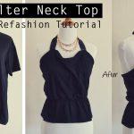 Sewing Tshirts Refashion Easy Diy Tutorial Old T Shirt Refashion Into Cute Halter Top Youtube