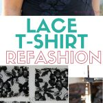 Sewing Tshirts Refashion How To Sew A Lace T Shirt Refashion The Crafty Blog Stalker
