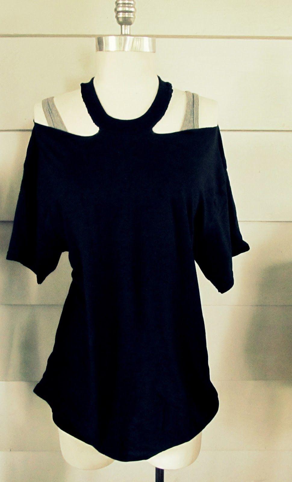 Sewing Tshirts Refashion No Sew Jewelled Halter T Shirt Diy Diy Wear It Pinterest