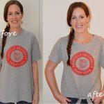 Sewing Tshirts Refashion The Crafty Novice Diy Sew Front Tie Tee Shirt Refashion