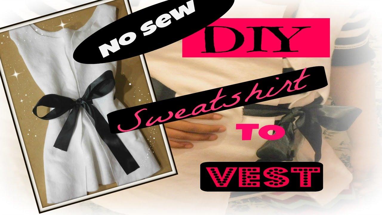 Sewing Upcycled Clothing Easy Diy Diy Fashion Upcycling Clothing Easy No Sew Youtube