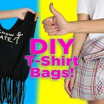 Sewing Upcycled Clothing Easy Diy Diy T Shirt Bag No Sew 2 Diy T Shirt Tote Bags Easy Diy Youtube