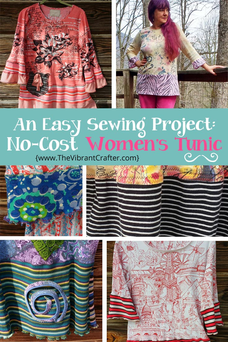 Sewing Upcycled Clothing Easy Diy Easy 90 Minute Sewing Project Upcycled Tunic Top For Women Xs 3xl