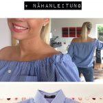 Sewing Upcycled Clothing Easy Diy Offshoulder Bluse Selbermachen Diy Mit Nhanleitung Und Bildern