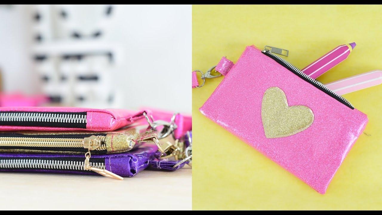 Sewing Vinyl Bags Zipper Pouch 10 Minutes Quick Vinyl Zipper Pouch Tutorial For Beginners 4x7