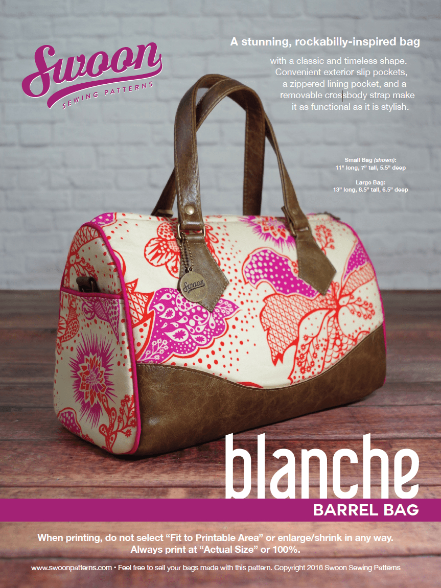 Sewing Vinyl Bags Zipper Pouch Blanche Barrel Bag Swoon Sewing Patterns